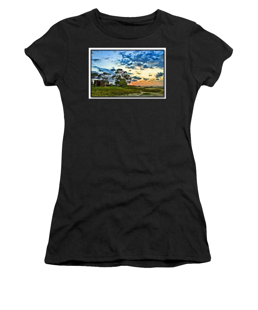 Rural Women's T-Shirt (Athletic Fit) featuring the photograph Rural Village by Galeria Trompiz