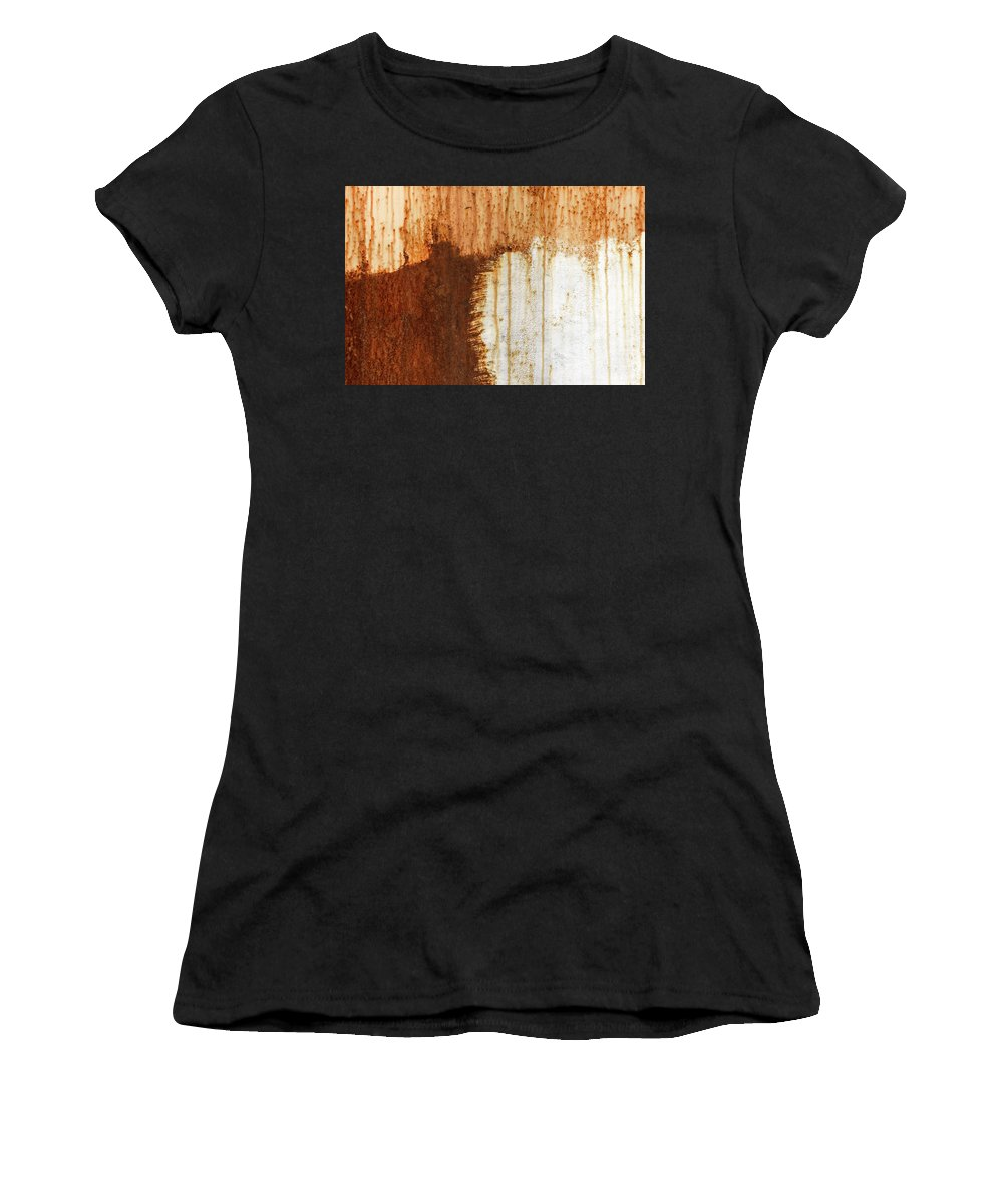 Abstract Women's T-Shirt featuring the photograph Rust 05 by Richard Nixon