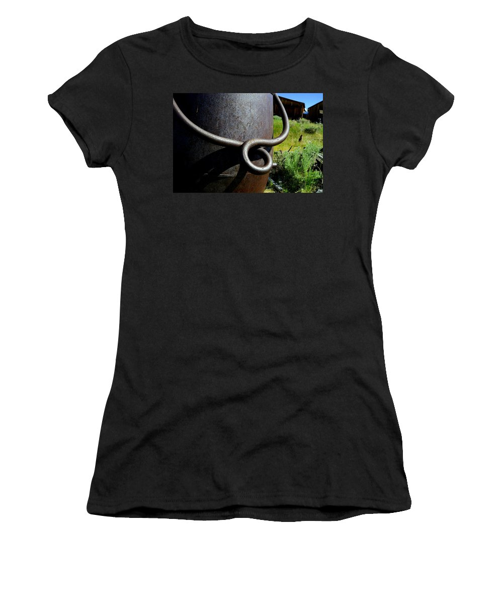 Landscape Women's T-Shirt (Athletic Fit) featuring the photograph Rusty Handle by Shannon Nickerson