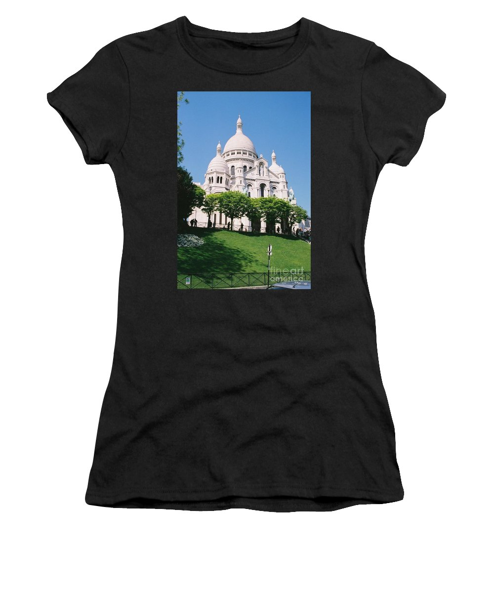 Church Women's T-Shirt (Athletic Fit) featuring the photograph Sacre Coeur by Nadine Rippelmeyer