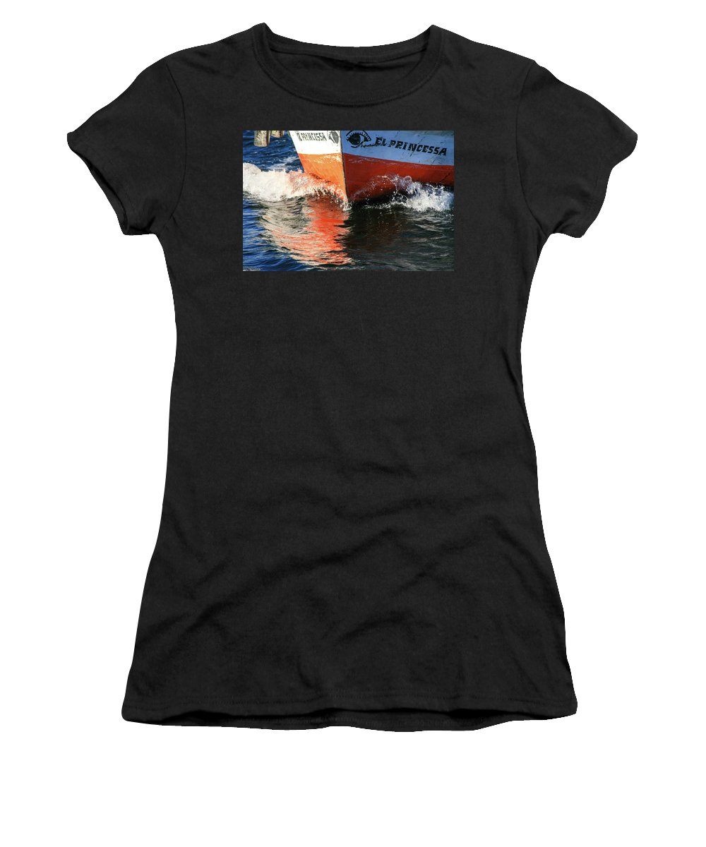Egypt Women's T-Shirt (Athletic Fit) featuring the photograph Sail On The Nile by Massimo Dardano