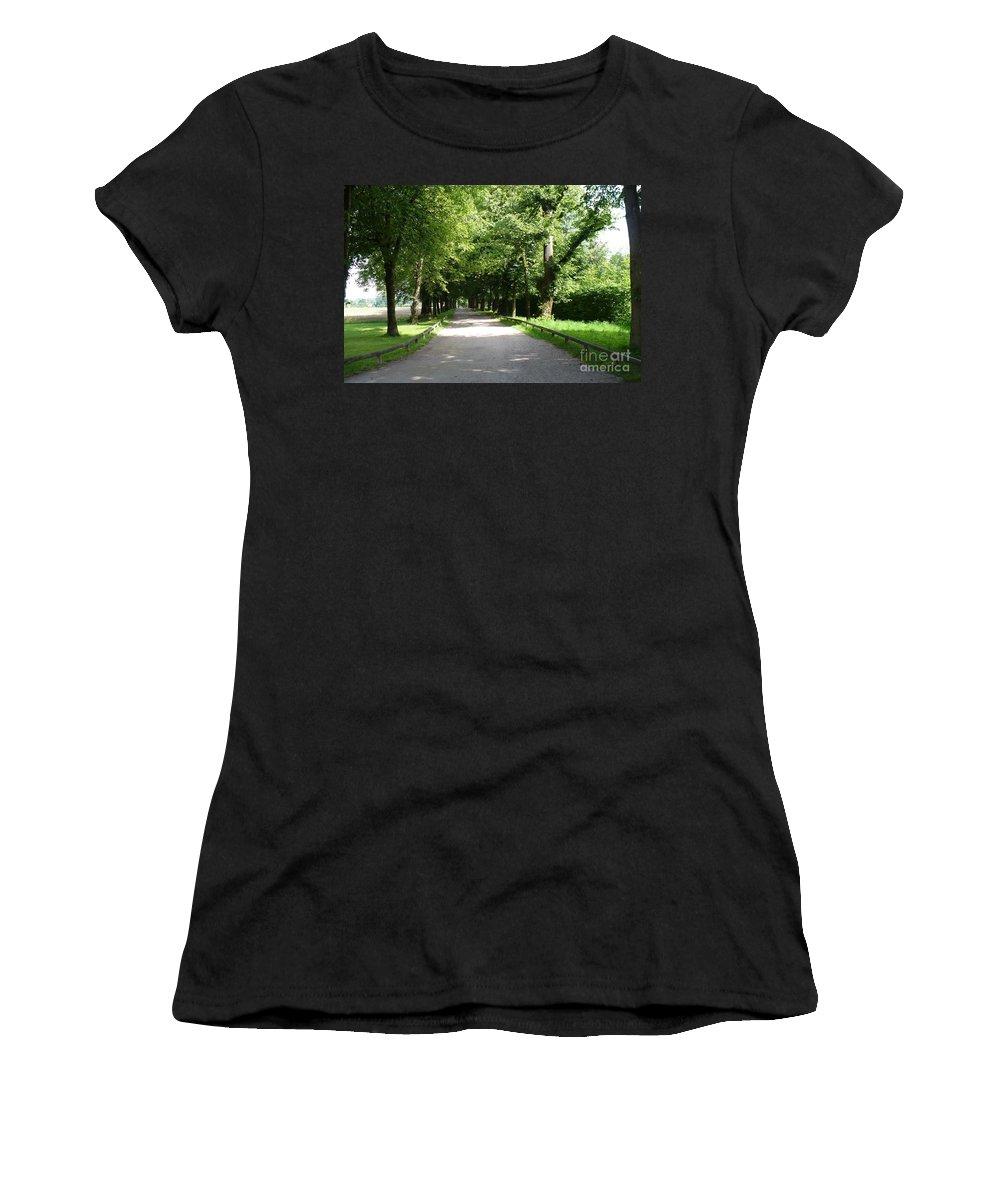Austria Women's T-Shirt (Athletic Fit) featuring the photograph Salzburg Lane by Carol Groenen