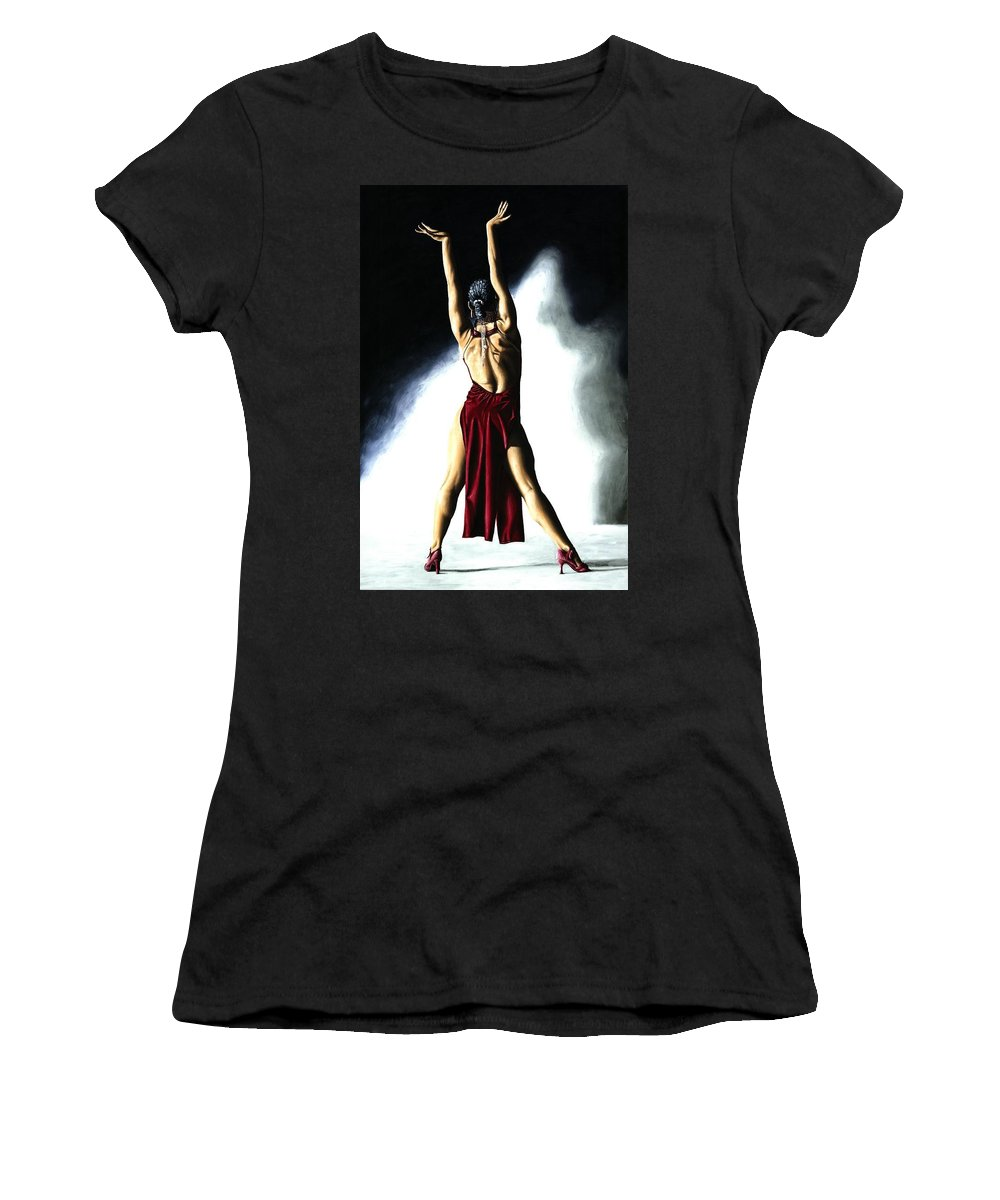 Samba Women's T-Shirt (Athletic Fit) featuring the painting Samba Celebration by Richard Young