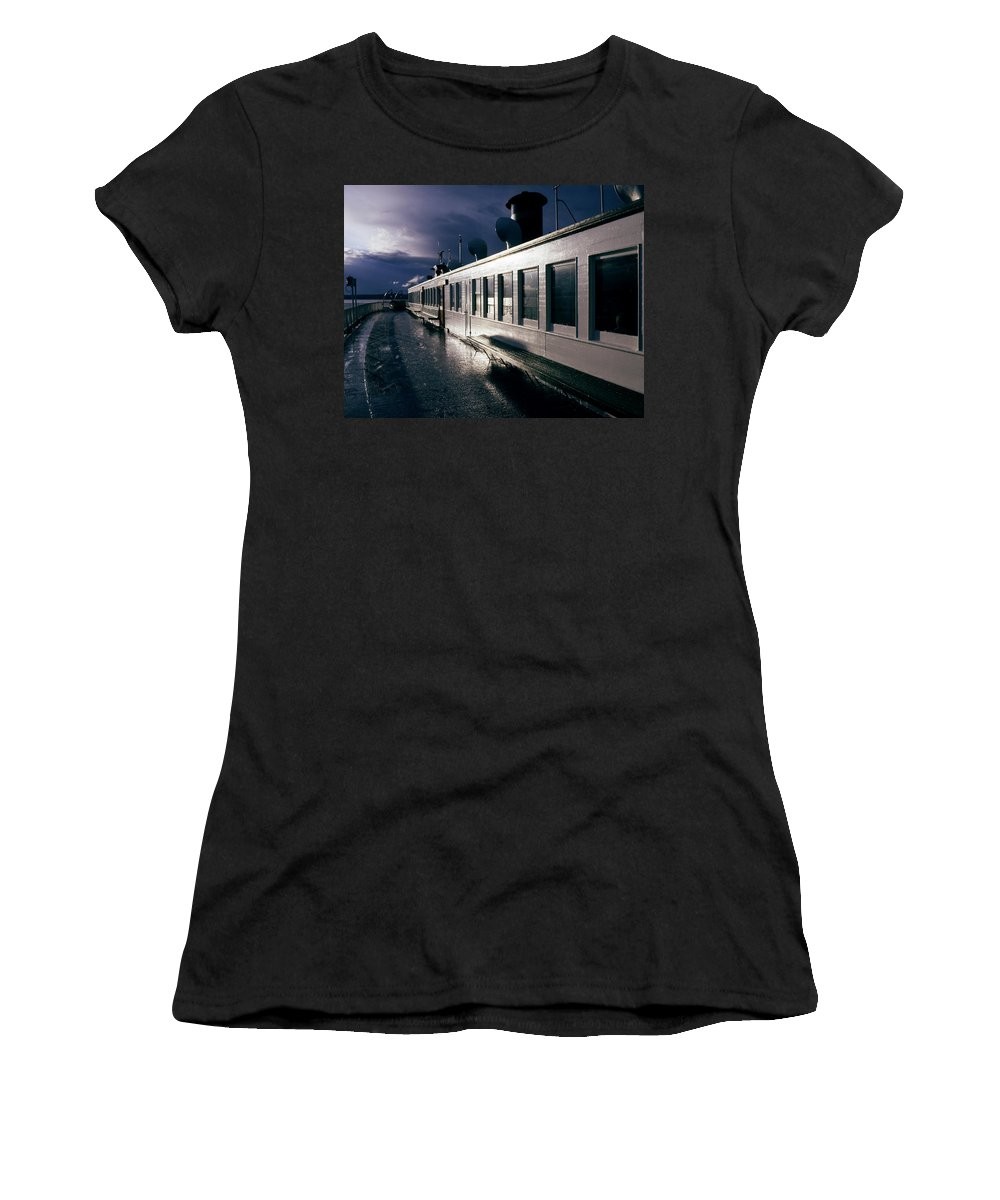 Scenic Women's T-Shirt featuring the photograph San Juan Islands Ferry by Lee Santa
