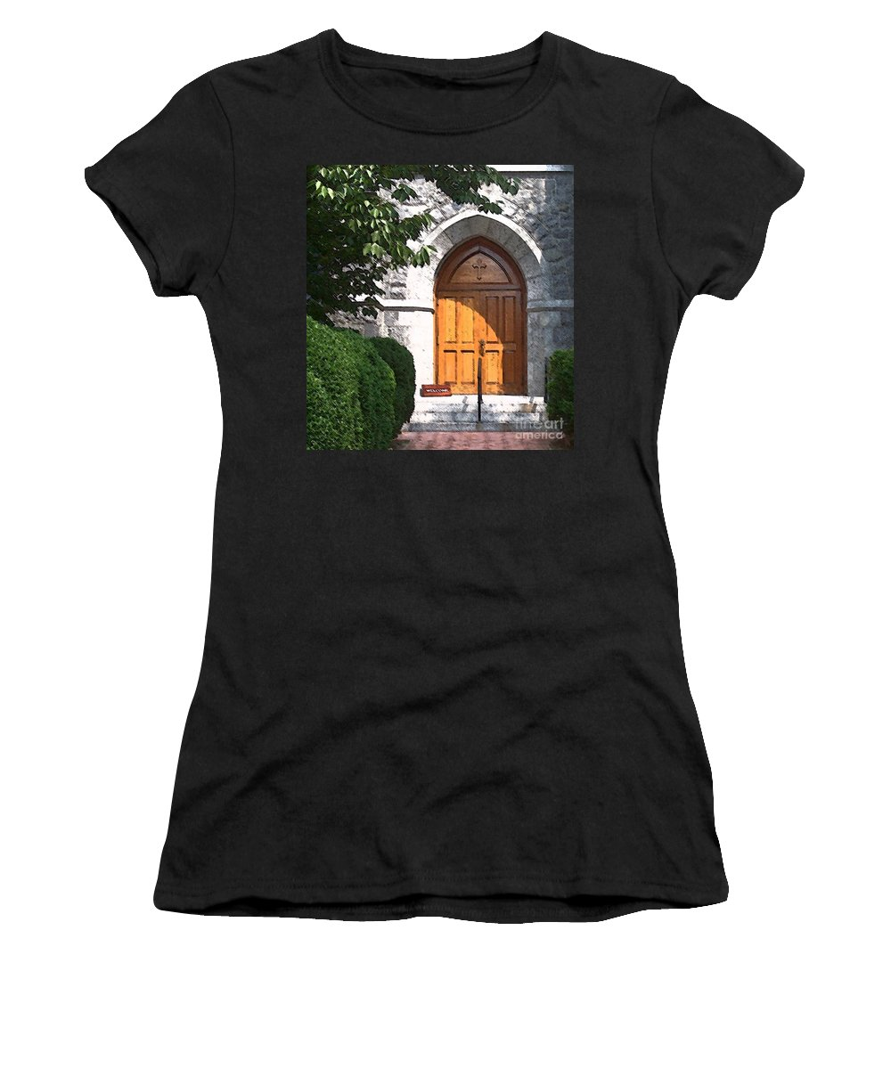 Church Women's T-Shirt (Athletic Fit) featuring the photograph Sanctuary by Debbi Granruth