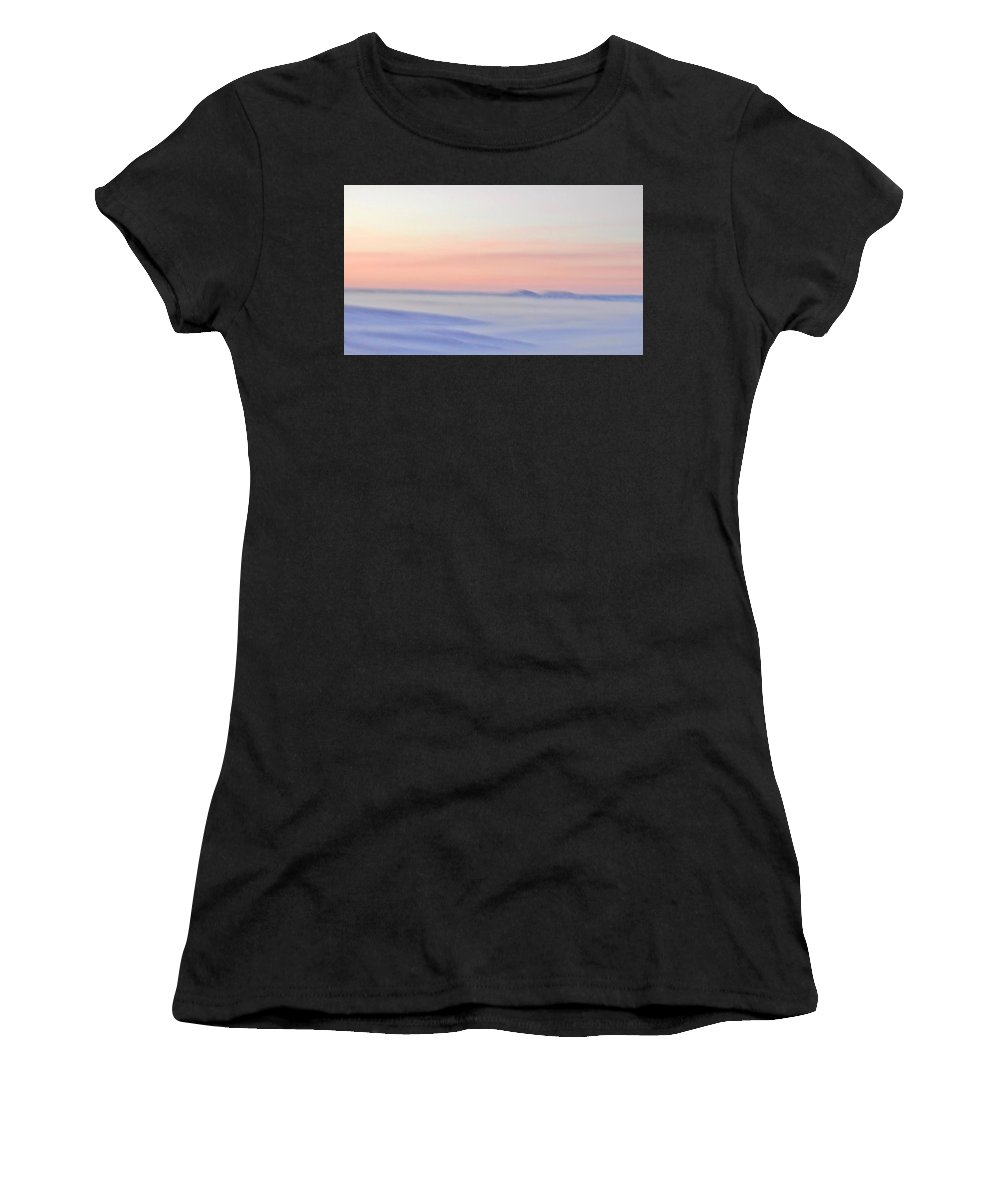 Landscape Women's T-Shirt (Athletic Fit) featuring the photograph Sand Painting by Donald J Gray