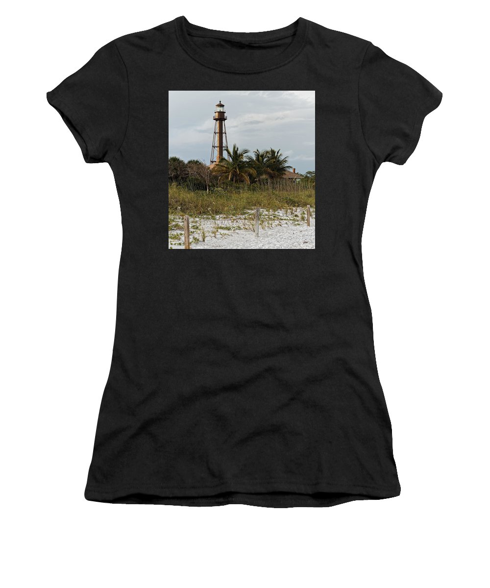 Sanibel Lighthouse Women's T-Shirt (Athletic Fit) featuring the photograph Sanibel Island Lighthouse by Jorge Crespo