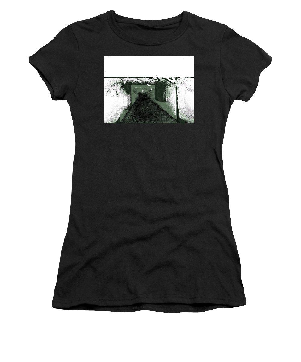Urban Exploration Women's T-Shirt featuring the digital art Sanitarium by Nicholas Haddox