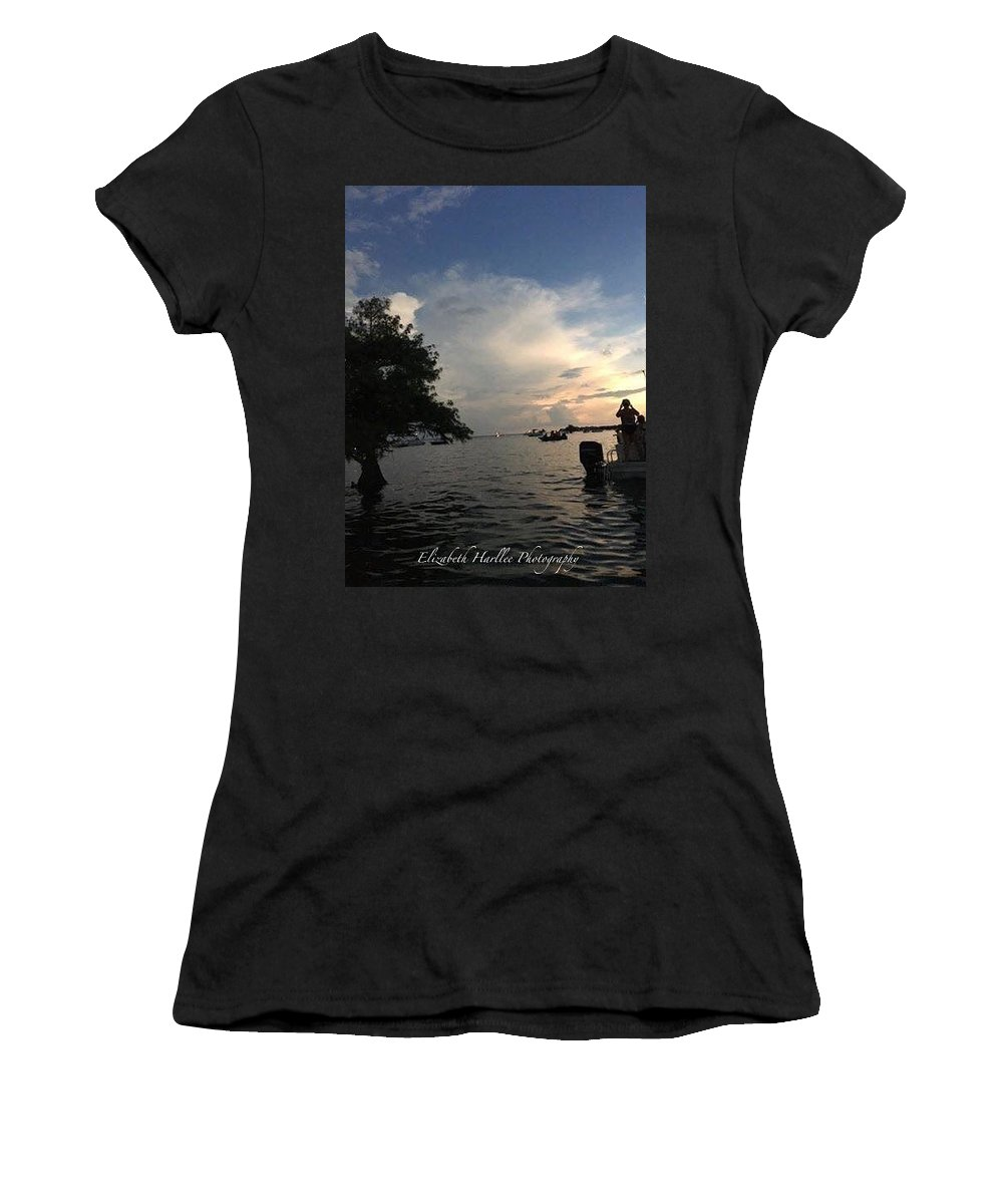 Women's T-Shirt (Athletic Fit) featuring the photograph Santee Eclipse by Elizabeth Harllee