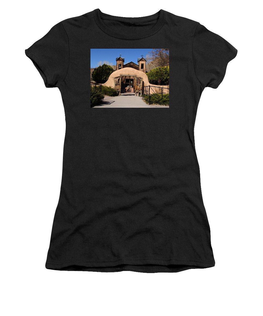 Church Women's T-Shirt featuring the photograph Santuario De Chimayo Adobe Chapel by Carol Milisen