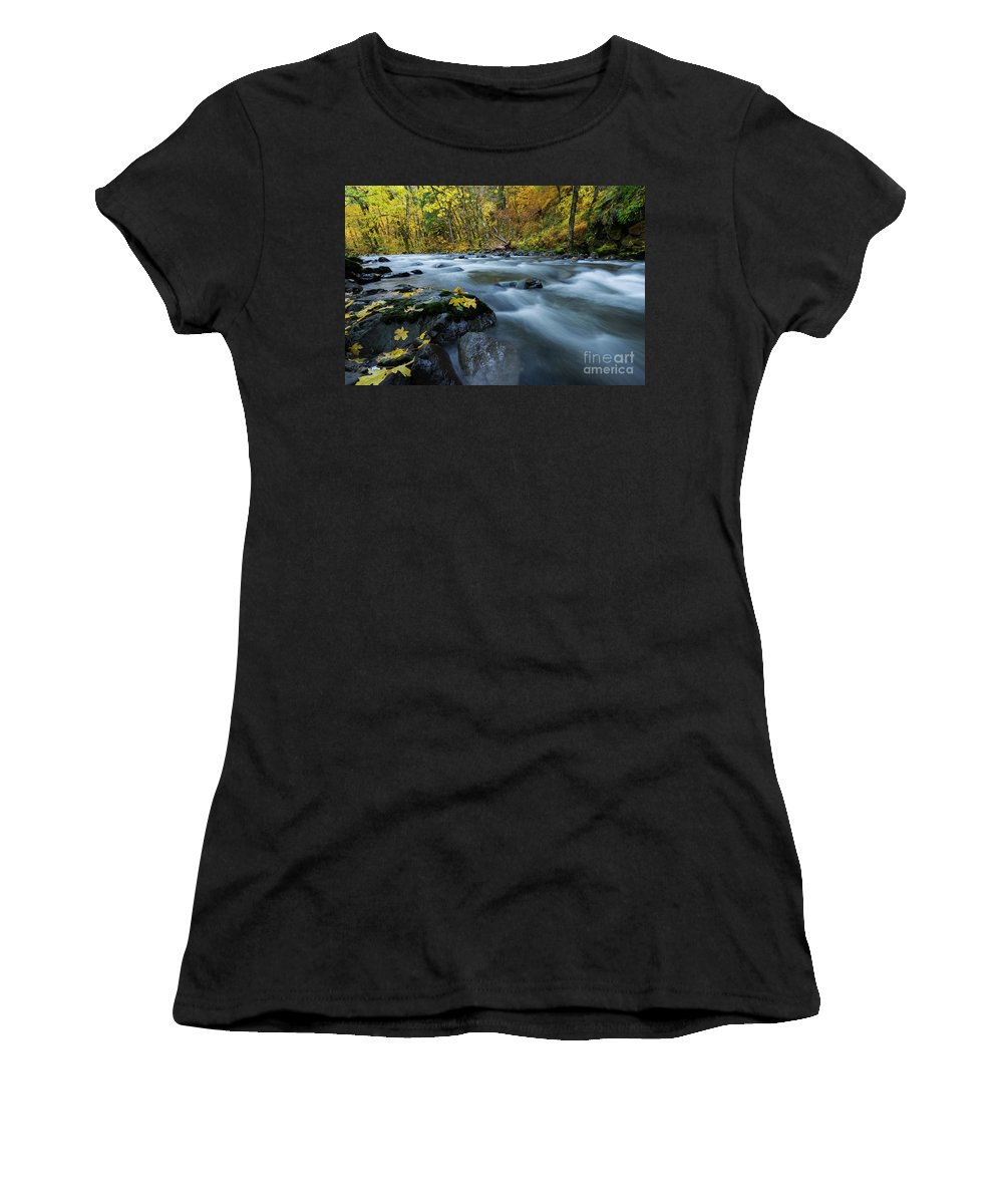 Skate Creek Women's T-Shirt (Athletic Fit) featuring the photograph Scattered Along The Way by Mike Dawson