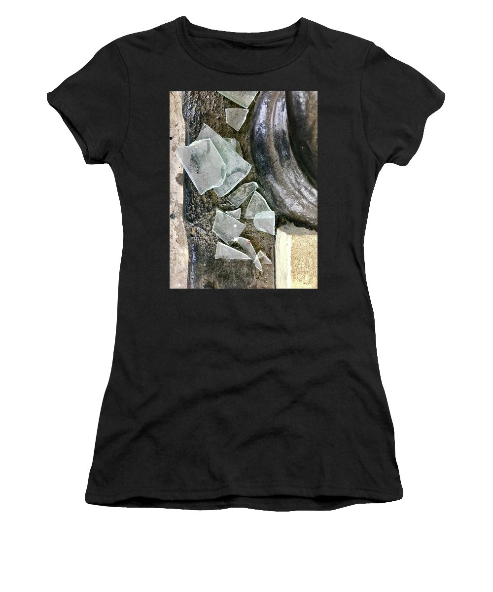 Broken Glass Women's T-Shirt (Athletic Fit) featuring the photograph Scene In St. Augustine by Anna Villarreal Garbis