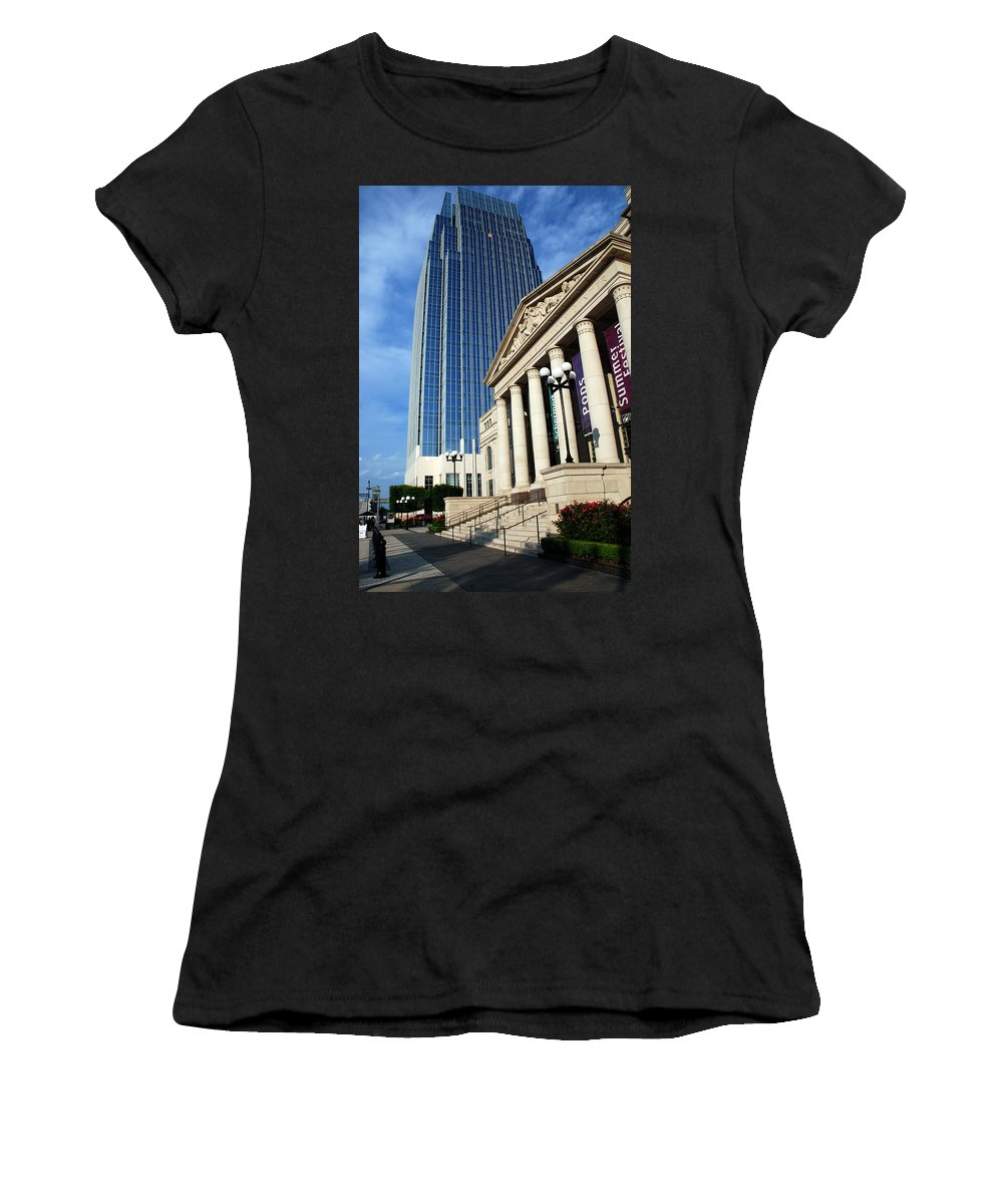 Nashville Women's T-Shirt featuring the photograph Schermerhorn Symphony Center Nashville by Susanne Van Hulst