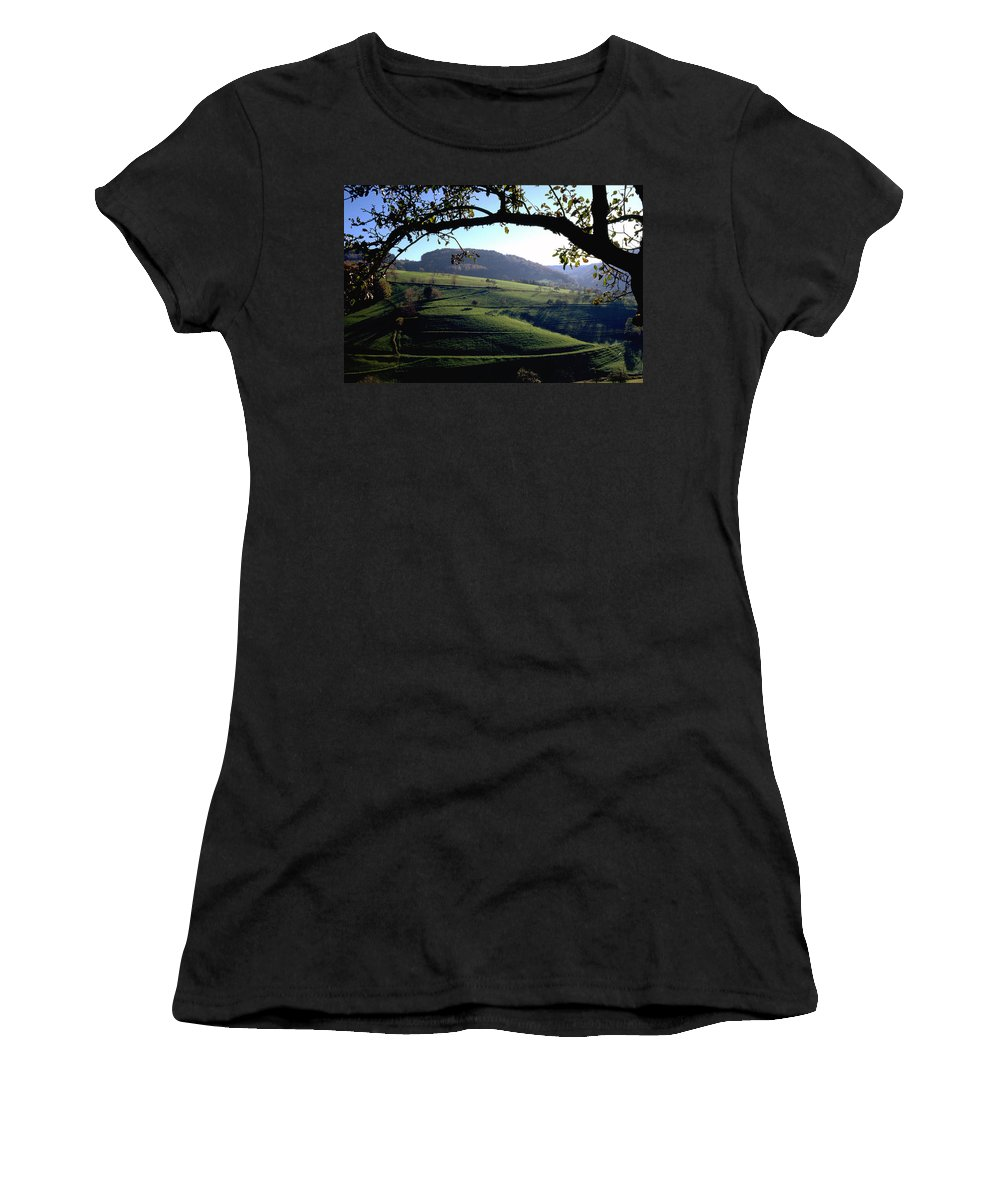 Schwarzwald Women's T-Shirt (Athletic Fit) featuring the photograph Schwarzwald by Flavia Westerwelle