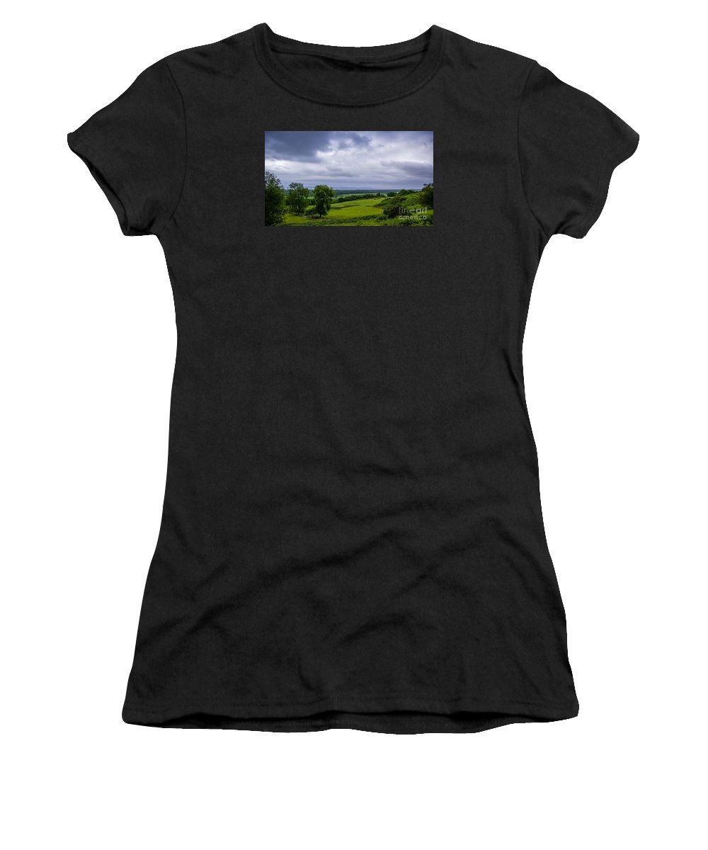 Scotland Women's T-Shirt featuring the photograph Scottish Countryside 1 by Nancy L Marshall