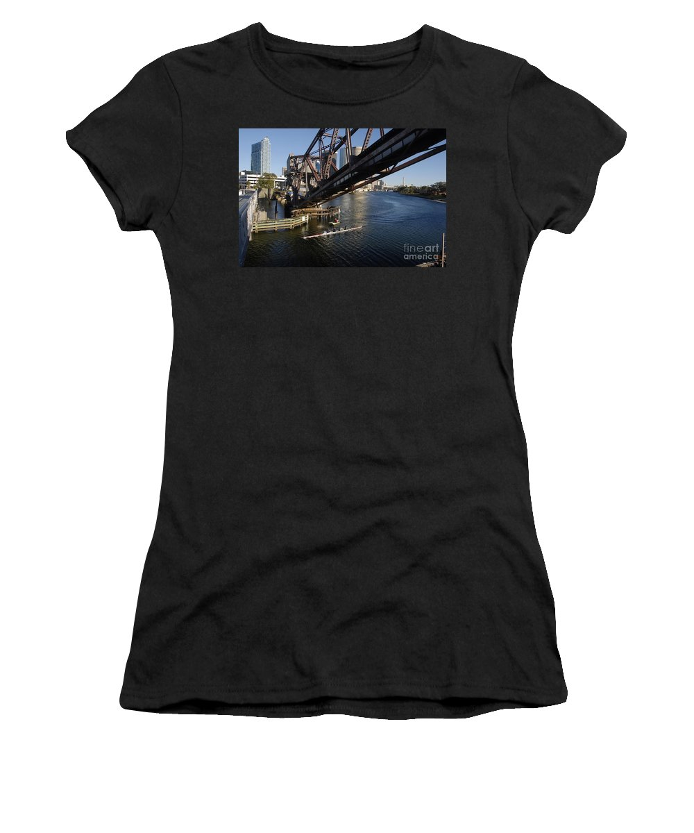 Sculling Women's T-Shirt featuring the photograph Sculling The Hillsborough by David Lee Thompson