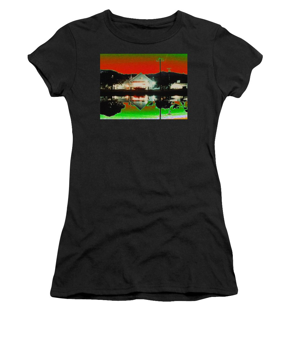 Seabeck Women's T-Shirt (Athletic Fit) featuring the photograph Seabeck General Store by Tim Allen