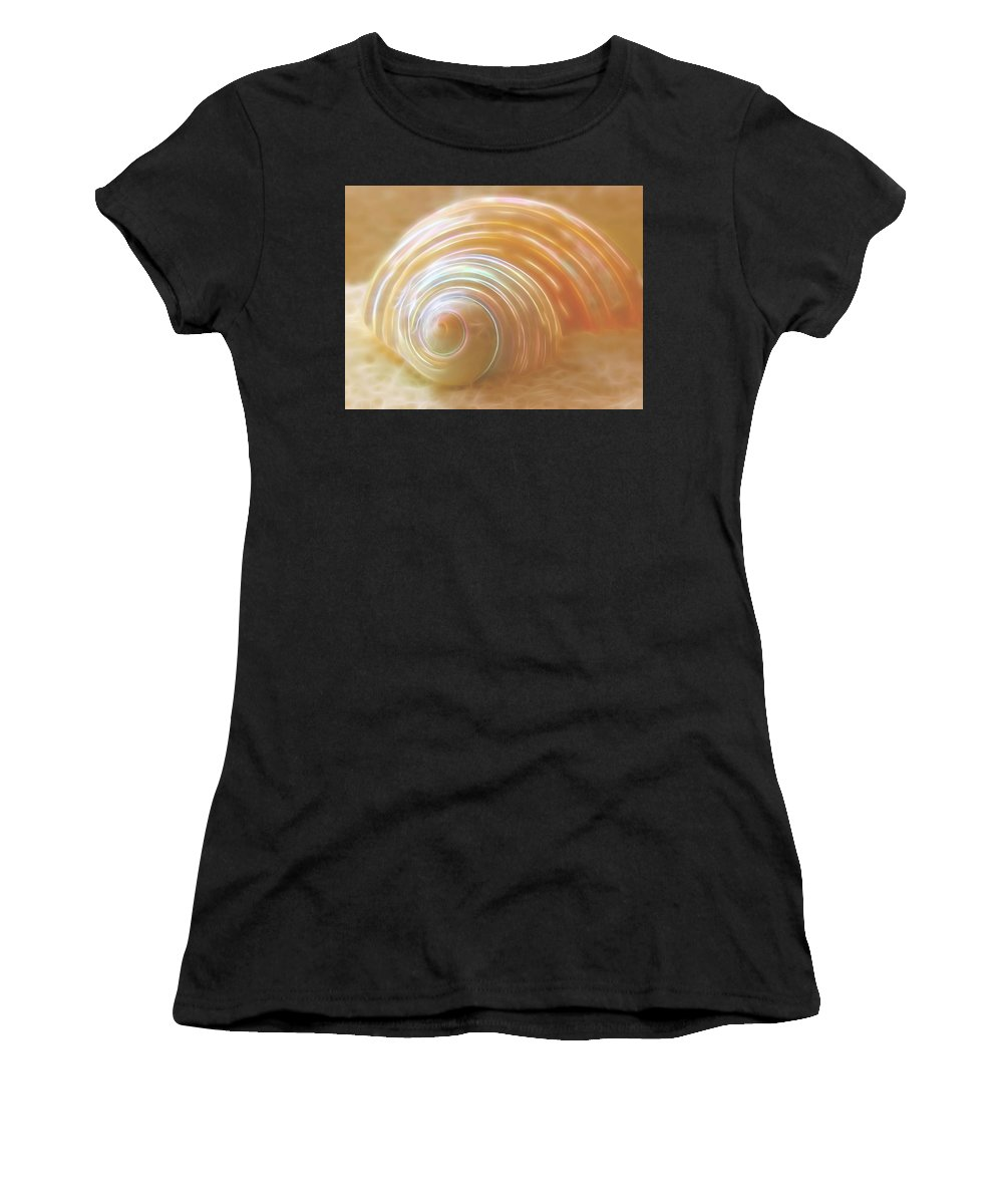 Seashell Women's T-Shirt (Athletic Fit) featuring the photograph Seashell Sandy Fantasy by Gill Billington