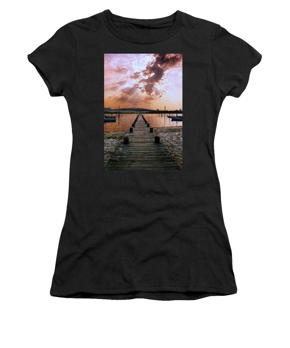 Seascape Women's T-Shirt featuring the photograph Seaside by Steve Karol