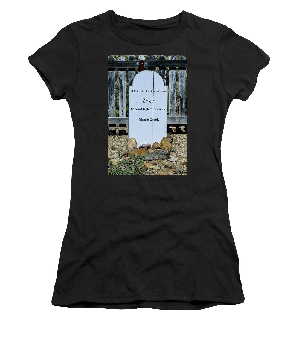 Second Fastest Draw Women's T-Shirt (Athletic Fit) featuring the photograph Second Fastest Draw by Jon Berghoff