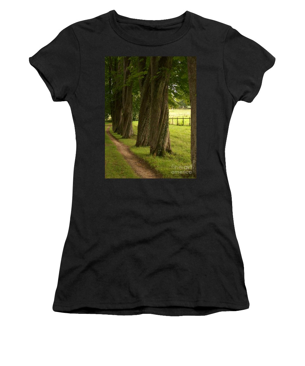 Secret Women's T-Shirt (Athletic Fit) featuring the photograph Secret Path by Mary Mikawoz