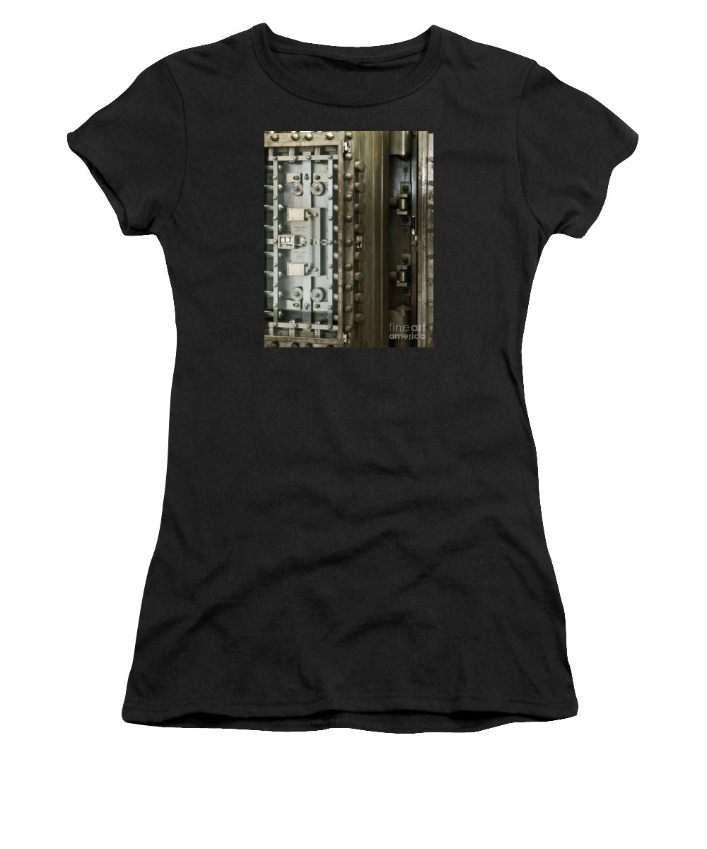 Door Women's T-Shirt (Athletic Fit) featuring the photograph Security by Catherine Melvin