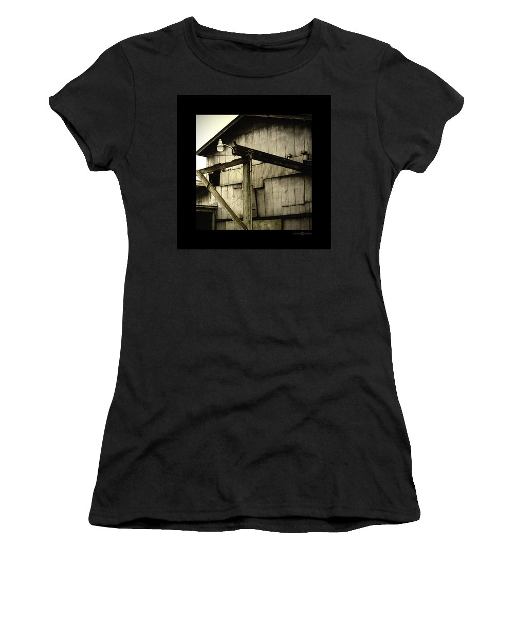 Corrugated Women's T-Shirt (Athletic Fit) featuring the photograph Security Light by Tim Nyberg