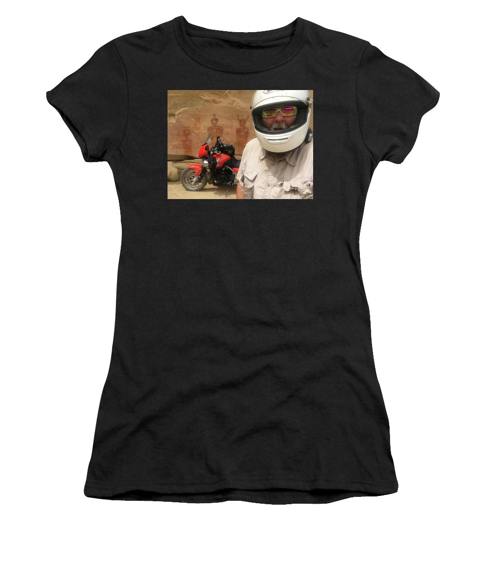 Sego Women's T-Shirt (Athletic Fit) featuring the photograph Sego Canyon Self Portrait by Ron Brown Photography