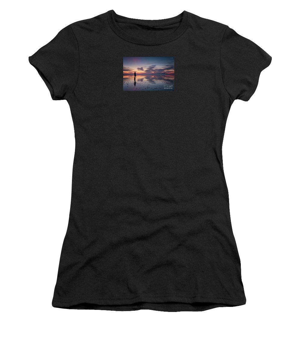 Seascape Women's T-Shirt (Athletic Fit) featuring the photograph Self-portrait by Fiona Smith