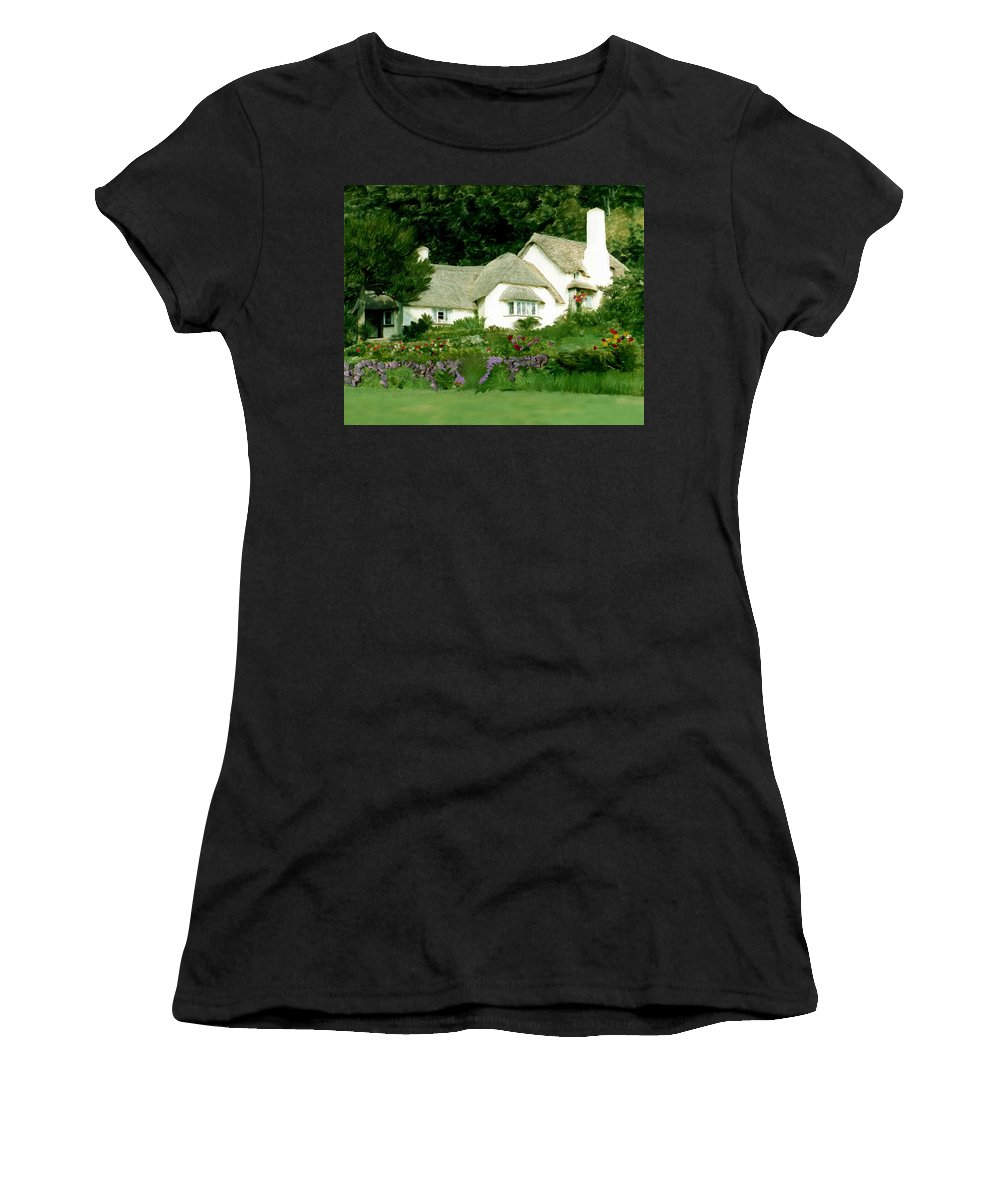 Selworthy Green Women's T-Shirt (Athletic Fit) featuring the photograph Selworthy Green by Kurt Van Wagner