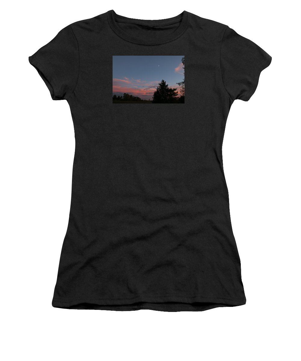 Night Women's T-Shirt (Athletic Fit) featuring the photograph September Evening by Jeff Roney