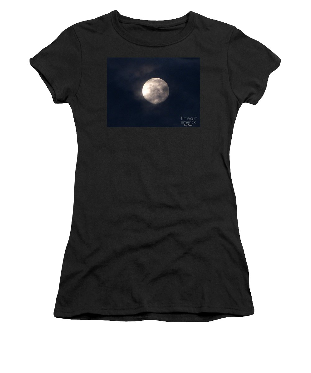 September Moon Women's T-Shirt (Athletic Fit) featuring the photograph September Moon by Greg Patzer
