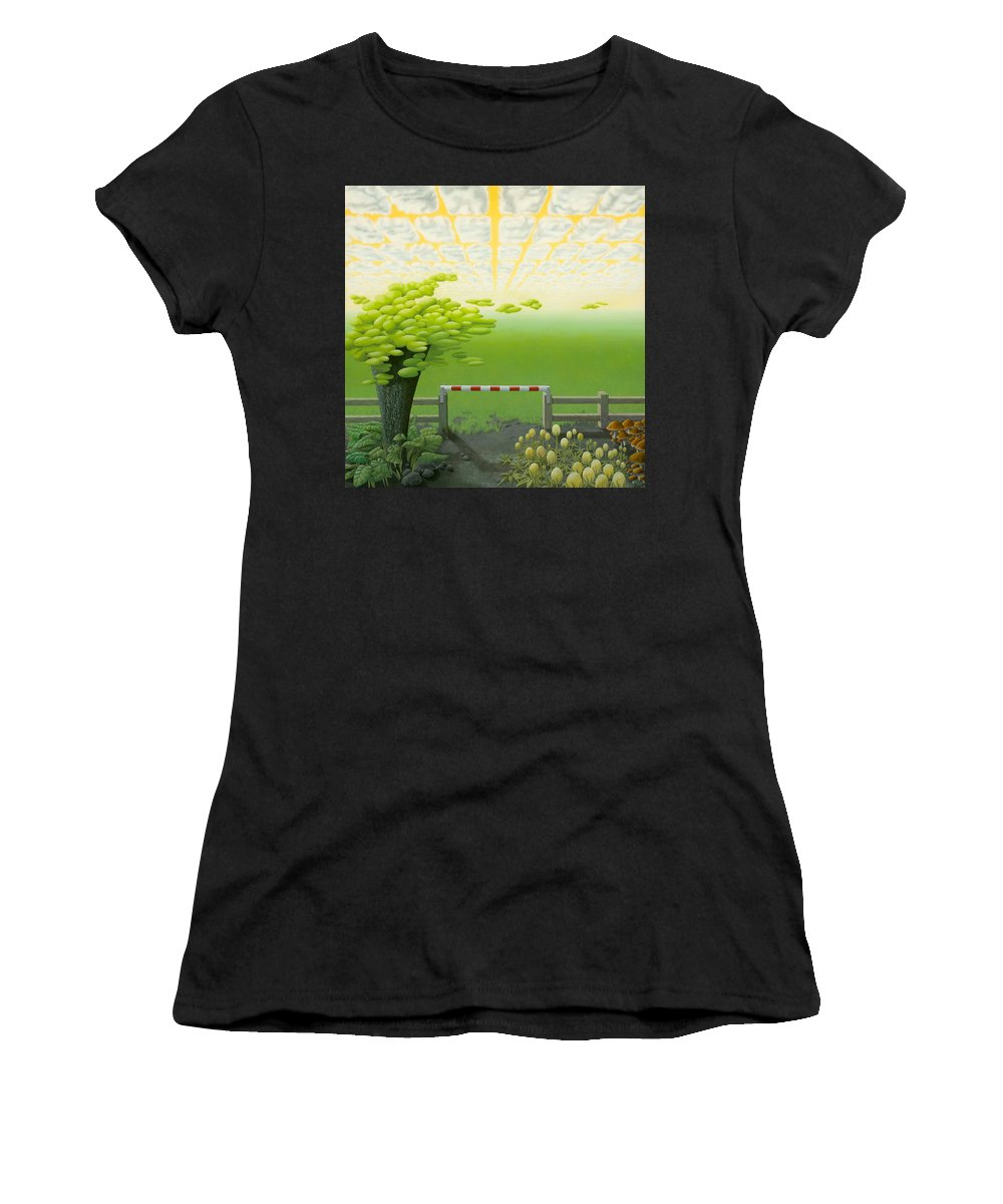 Tree Women's T-Shirt (Athletic Fit) featuring the painting September by Patricia Van Lubeck