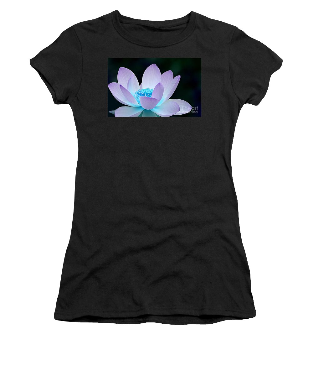 Flower Women's T-Shirt (Athletic Fit) featuring the photograph Serene by Jacky Gerritsen