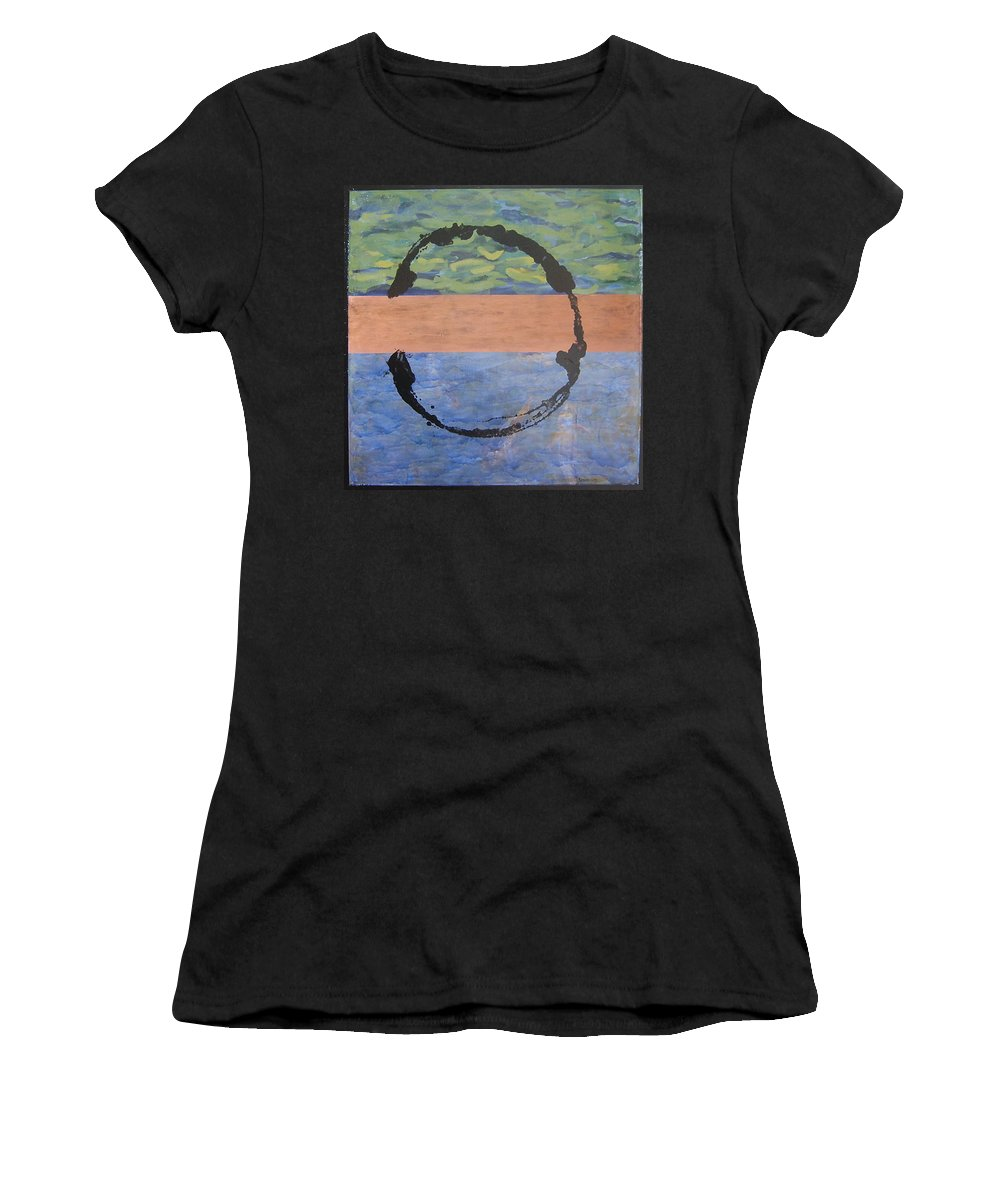 Serenity Women's T-Shirt (Athletic Fit) featuring the painting Serenity by Ellen Beauregard