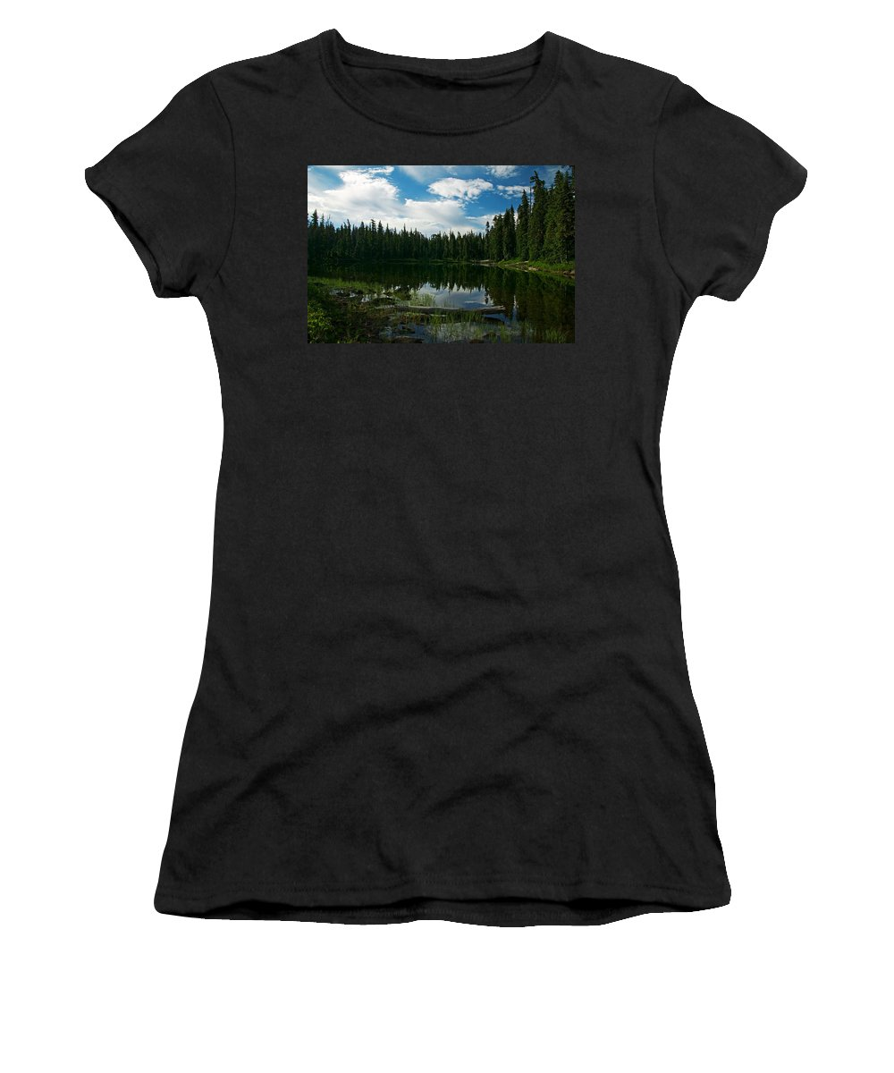 Lake Women's T-Shirt (Athletic Fit) featuring the photograph Serenity by Randall Ingalls