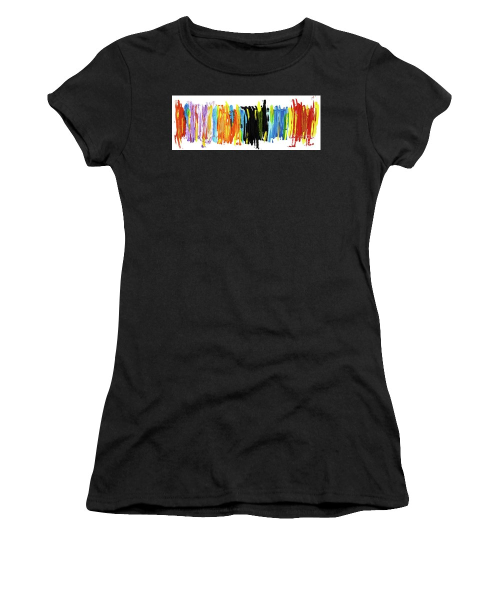 Love Women's T-Shirt (Athletic Fit) featuring the painting Shades Of Love by Bjorn Sjogren