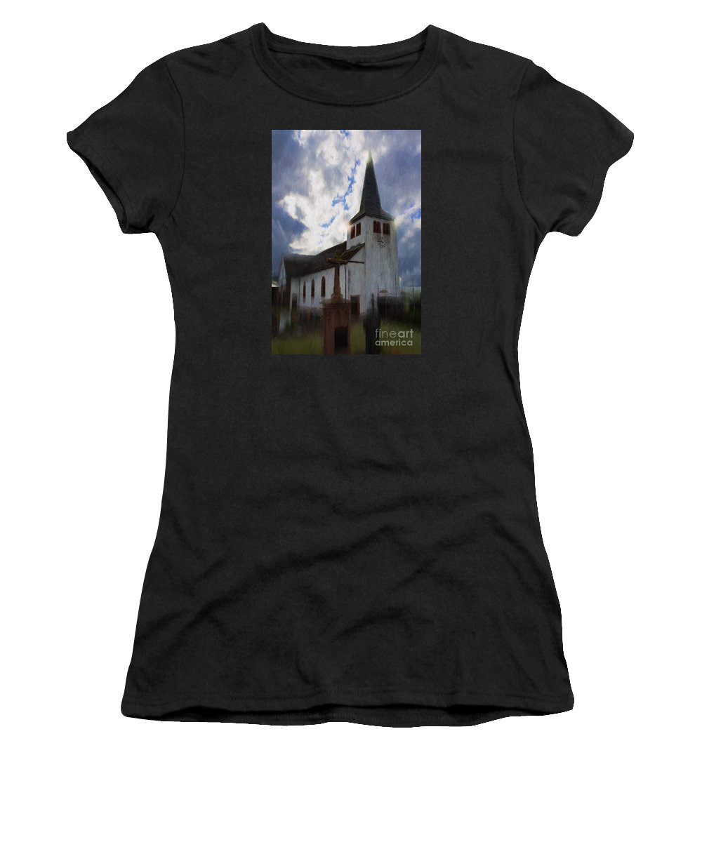 Church Women's T-Shirt (Athletic Fit) featuring the digital art Shades Of The Past by Gary Rieks