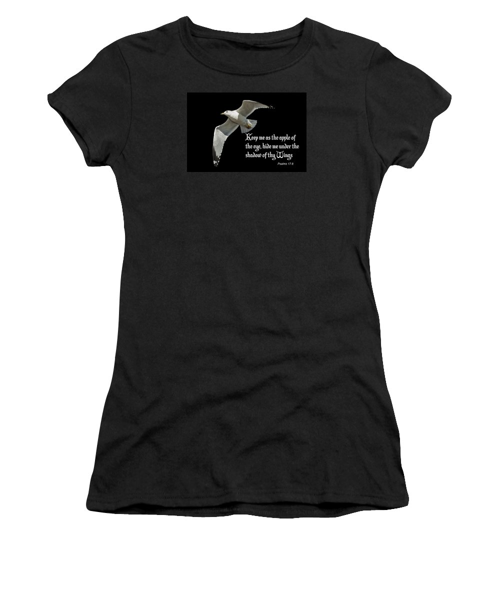 Bird Women's T-Shirt (Athletic Fit) featuring the photograph Shadow Of Thy Wings by Annette Persinger