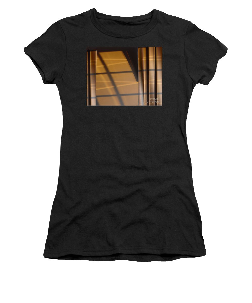Windows Women's T-Shirt (Athletic Fit) featuring the digital art Shadows by Ron Bissett