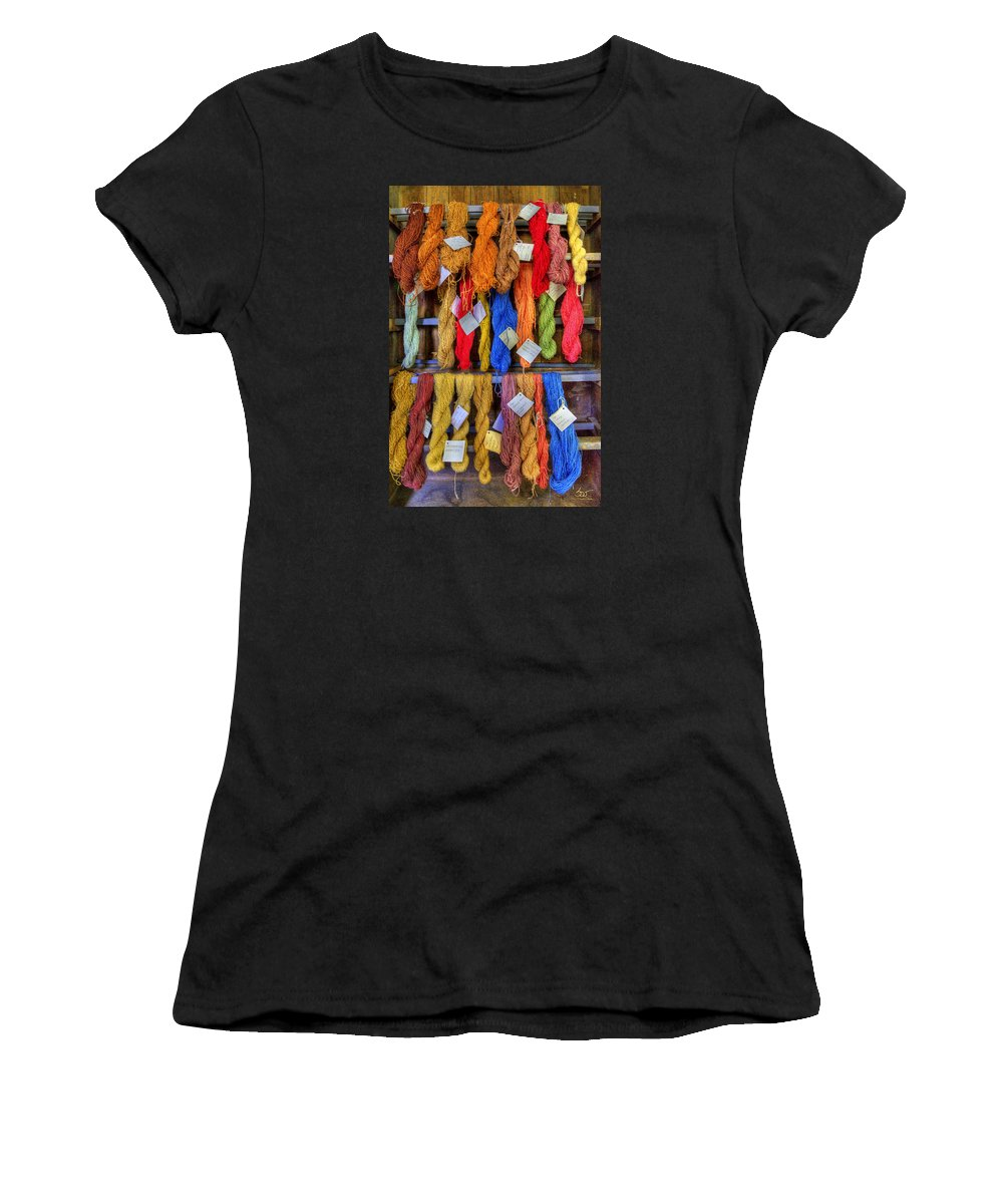 Shaker Women's T-Shirt (Athletic Fit) featuring the photograph Shaker Yarn by Sam Davis Johnson