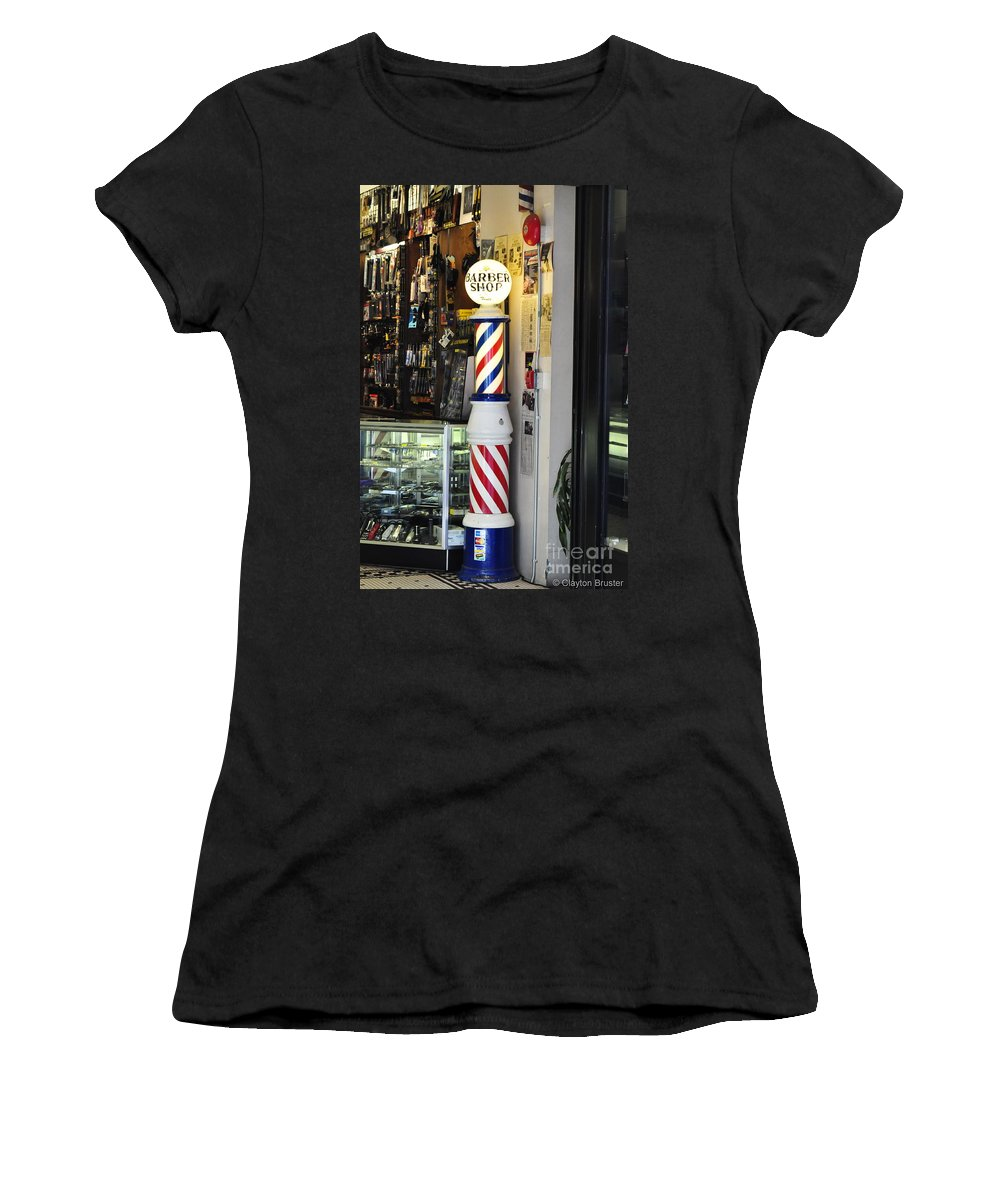 Clay Women's T-Shirt (Athletic Fit) featuring the photograph Shave And A Haircut by Clayton Bruster