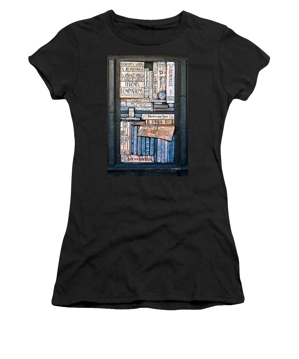 Books Women's T-Shirt (Athletic Fit) featuring the photograph Shelved - 5 by Christopher Holmes