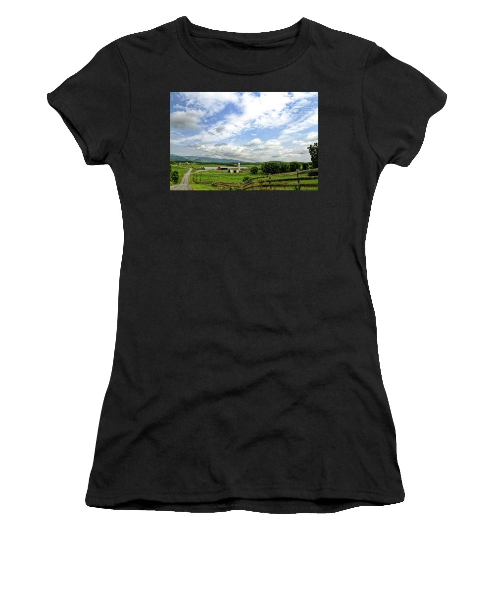 Recent Women's T-Shirt (Athletic Fit) featuring the photograph Shenandoah Valley West Virginia Scenic Series by Geraldine Scull