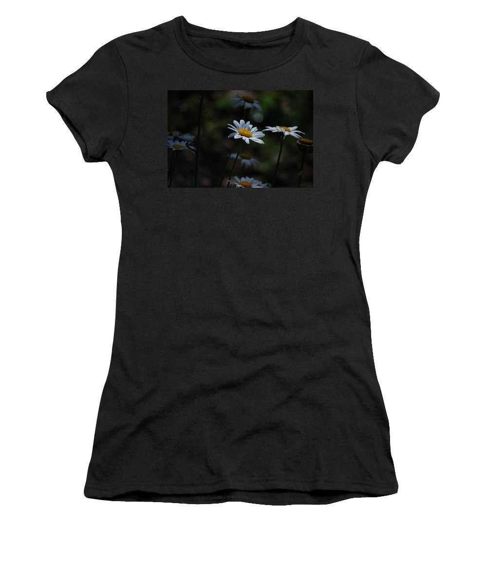 Daisy Women's T-Shirt (Athletic Fit) featuring the photograph Shine On Me by Lori Tambakis