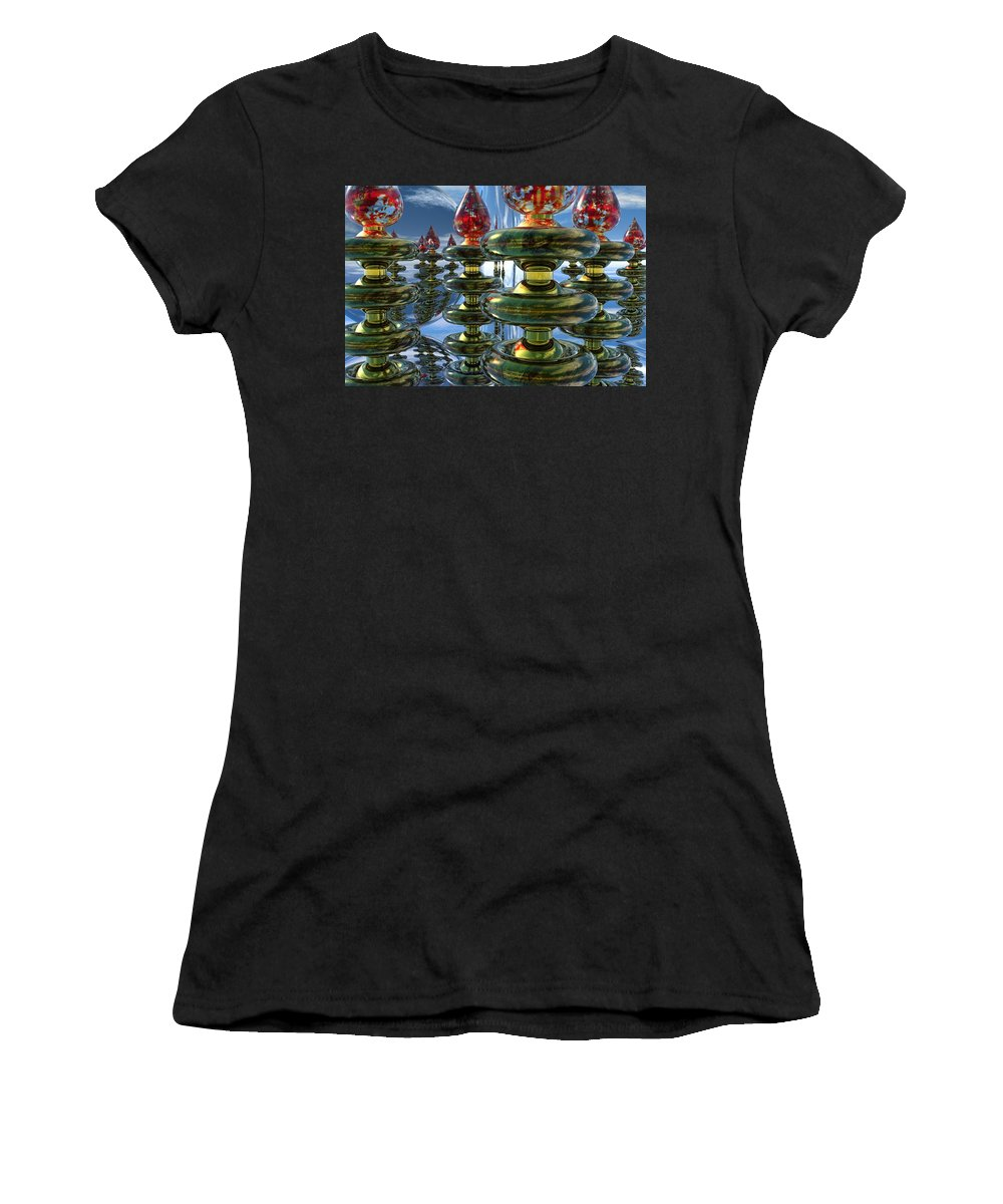 Bryce Women's T-Shirt (Athletic Fit) featuring the digital art Shiny Things by Lyle Hatch