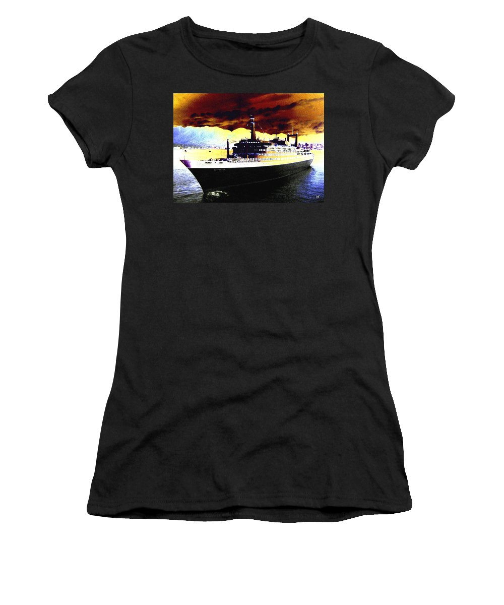 S S Rotterdam Women's T-Shirt featuring the digital art Shipshape 3 by Will Borden