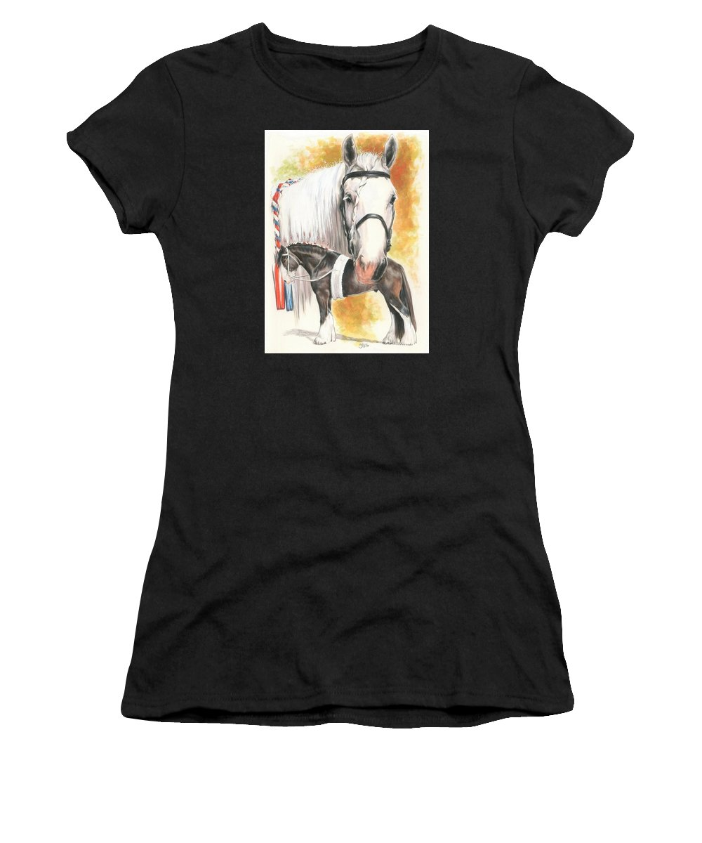 Shire Women's T-Shirt (Athletic Fit) featuring the mixed media Shire by Barbara Keith