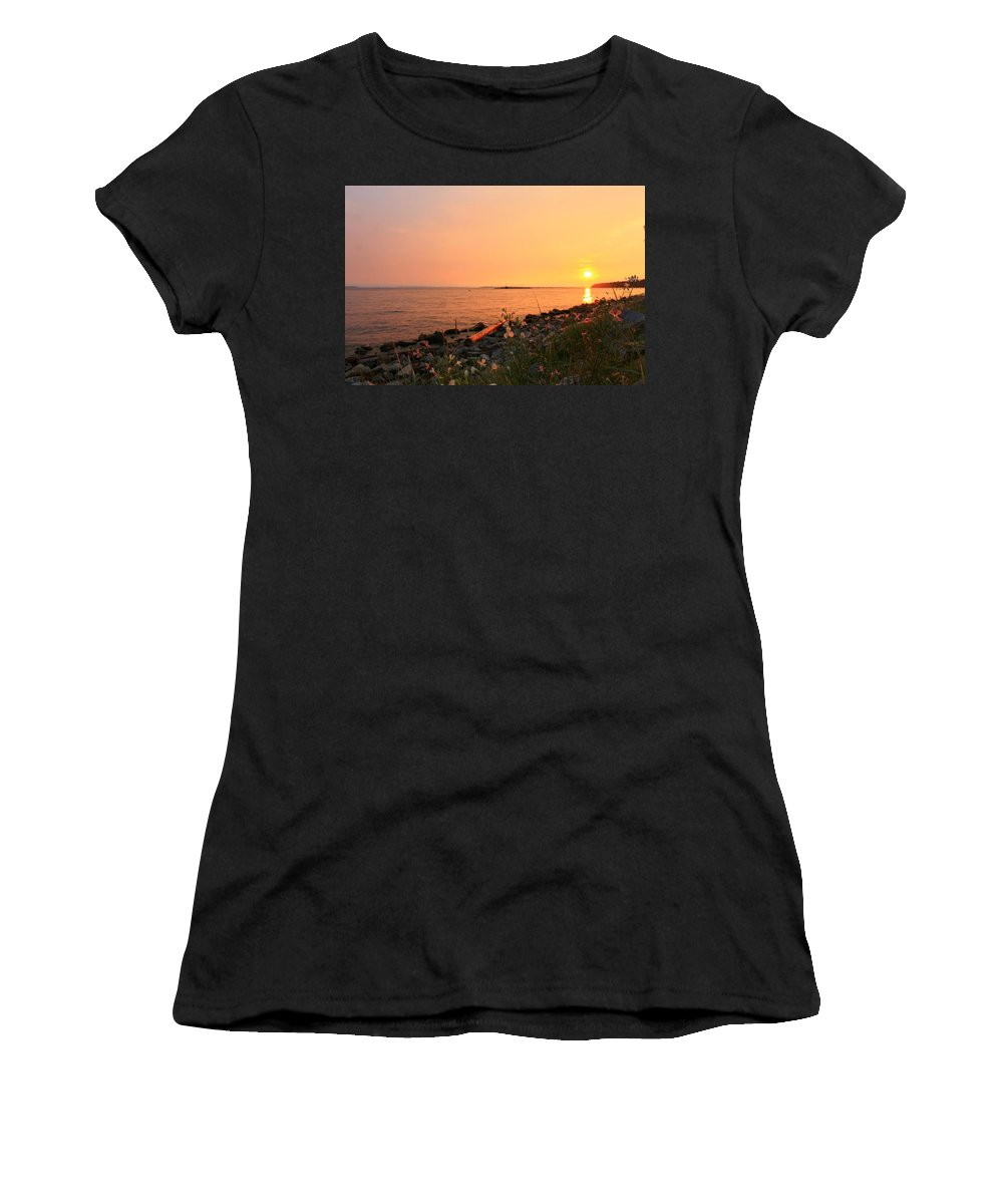 Landscape Women's T-Shirt (Athletic Fit) featuring the photograph Shoreline Shades by Margre Flikweert