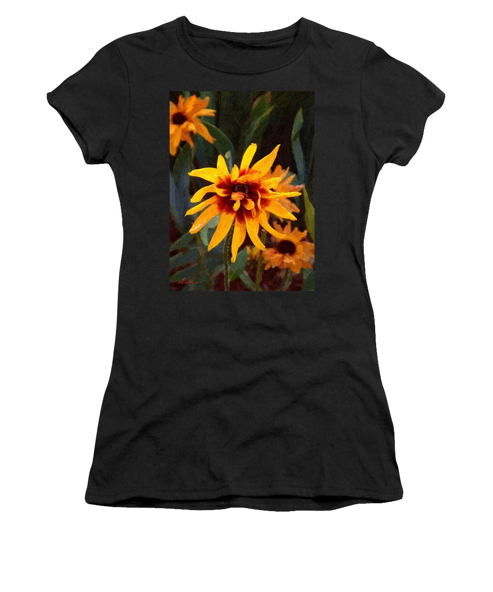 Brown Women's T-Shirt (Athletic Fit) featuring the greeting card Showoff by RC DeWinter